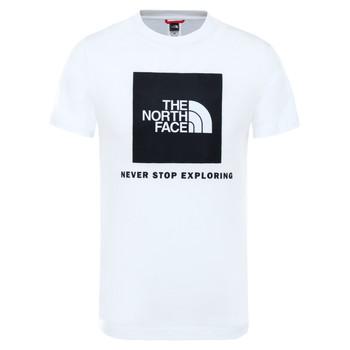 tekstylia Dziecko T-shirty z krótkim rękawem The North Face BOX TEE SUMMIT Biały