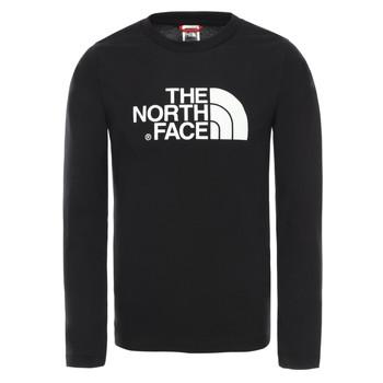 tekstylia Chłopiec T-shirty z długim rękawem The North Face EASY TEE LS Czarny