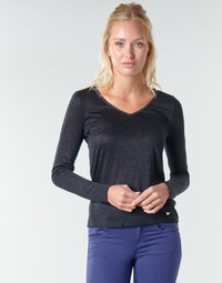 tekstylia Damskie T-shirty z długim rękawem Les Petites Bombes ADRIANA Czarny