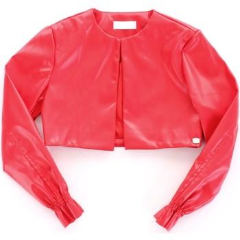 tekstylia Dziewczynka Kurtki skórzane / z imitacji skóry Byblos Blu BJ14994 Czerwony