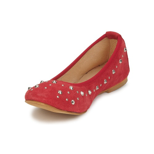 Meline Luson Czerwony - Bezpłatna Dostawa- Buty Baleriny Damskie 17950 Najniższa Cena