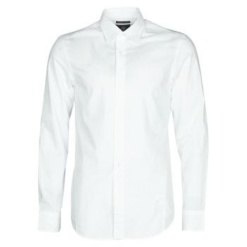 tekstylia Męskie Koszule z długim rękawem G-Star Raw DRESSED SUPER SLIM SHIRT LS Biały