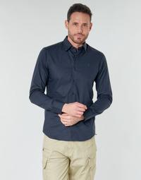 tekstylia Męskie Koszule z długim rękawem G-Star Raw DRESSED SUPER SLIM SHIRT LS Mazarine / Blue