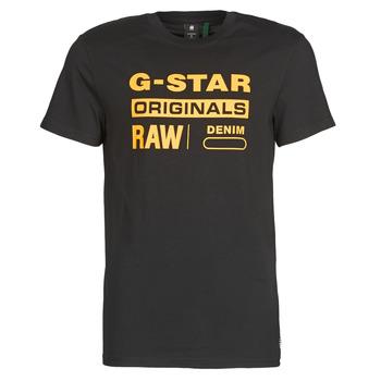 tekstylia Męskie T-shirty z krótkim rękawem G-Star Raw COMPACT JERSEY O Dk / Czarny