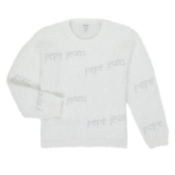 tekstylia Dziewczynka Swetry Pepe jeans AUDREY Biały