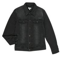 tekstylia Chłopiec Kurtki jeansowe Pepe jeans LEGENDARY Czarny