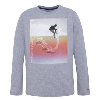 tekstylia Chłopiec T-shirty z długim rękawem Pepe jeans EDGAR Szary