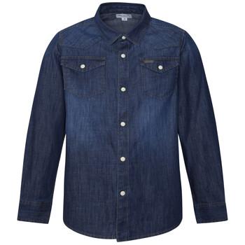tekstylia Chłopiec Koszule z długim rękawem Pepe jeans JHON Niebieski