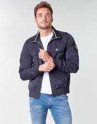 tekstylia Męskie Kurtki krótkie Calvin Klein Jeans ZIP UP HARRINGTON Marine