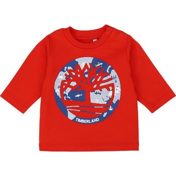 tekstylia Chłopiec T-shirty z długim rękawem Timberland T95889 Czerwony