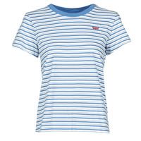 tekstylia Damskie T-shirty z krótkim rękawem Levi's PERFECT TEE Niebieski