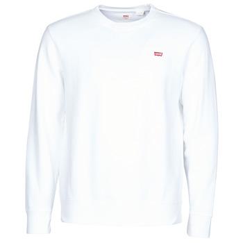 tekstylia Męskie Bluzy Levi's NEW ORIGINAL CREW Biały