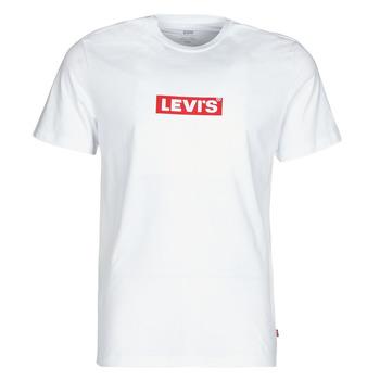 tekstylia Męskie T-shirty z krótkim rękawem Levi's BOXTAB GRAPHIC TEE Biały