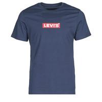 tekstylia Męskie T-shirty z krótkim rękawem Levi's BOXTAB GRAPHIC TEE Niebieski