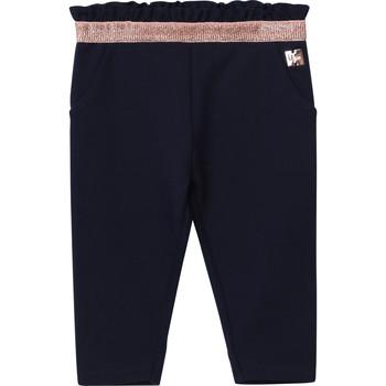tekstylia Dziewczynka Spodnie z pięcioma kieszeniami Carrément Beau Y94194 Niebieski