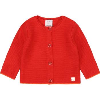 tekstylia Dziewczynka Swetry rozpinane / Kardigany Carrément Beau Y95225 Różowy