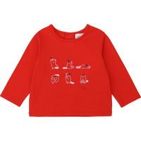 tekstylia Dziewczynka T-shirty z długim rękawem Carrément Beau Y95252 Czerwony