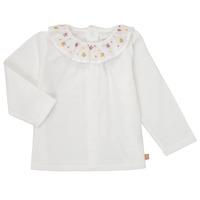 tekstylia Dziewczynka T-shirty z długim rękawem Carrément Beau Y95244 Biały
