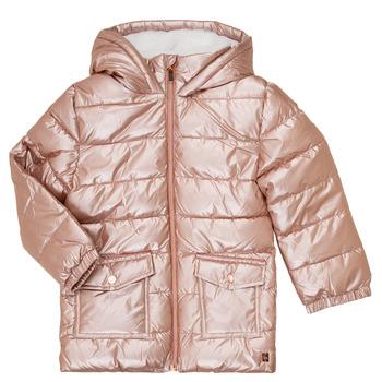 tekstylia Dziewczynka Kurtki pikowane Carrément Beau Y16085 Różowy