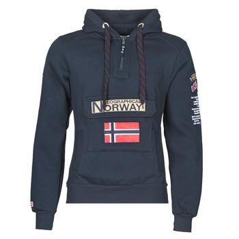 tekstylia Męskie Bluzy Geographical Norway GYMCLASS Marine