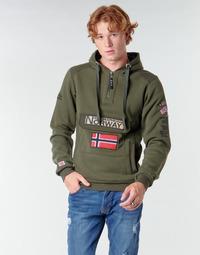 tekstylia Męskie Bluzy Geographical Norway GYMCLASS Kaki