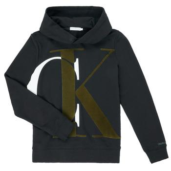 tekstylia Chłopiec Bluzy Calvin Klein Jeans IB0IB00628-BEH Czarny