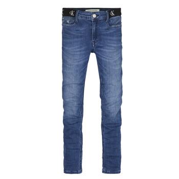 tekstylia Dziewczynka Jeansy skinny Calvin Klein Jeans IG0IG00639-1A4 Niebieski
