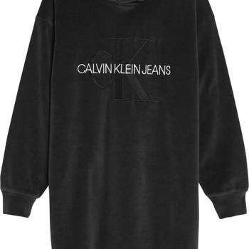 tekstylia Dziewczynka Sukienki krótkie Calvin Klein Jeans IG0IG00711-BEH Czarny
