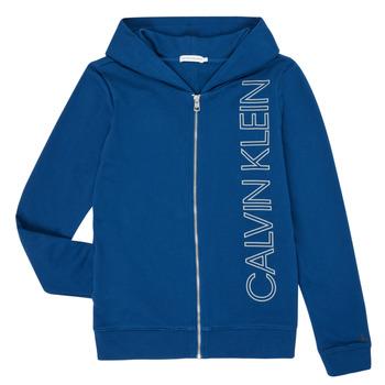 tekstylia Chłopiec Bluzy Calvin Klein Jeans IB0IB00668-C5G Niebieski