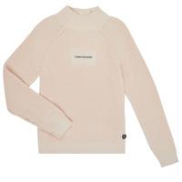 tekstylia Dziewczynka Swetry Calvin Klein Jeans IG0IG00680-PGB Szary