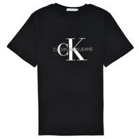 tekstylia Dziecko T-shirty z krótkim rękawem Calvin Klein Jeans MONOGRAM Czarny