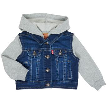 tekstylia Chłopiec Kurtki jeansowe Levi's INDIGO JACKET Niebieski