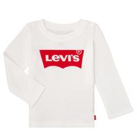tekstylia Dziewczynka T-shirty z długim rękawem Levi's BATWING TEE LS Biały