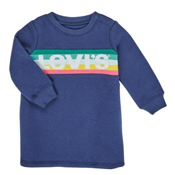 tekstylia Dziewczynka Sukienki krótkie Levi's SWEATSHIRT DRESS Niebieski