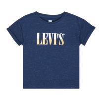 tekstylia Dziewczynka T-shirty z krótkim rękawem Levi's DROP SHOULDER TEE Niebieski