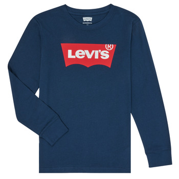 tekstylia Chłopiec T-shirty z długim rękawem Levi's BATWING TEE LS Niebieski