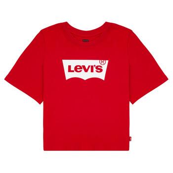 tekstylia Dziewczynka T-shirty z krótkim rękawem Levi's LIGHT BRIGHT CROPPED TEE Czerwony