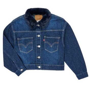 tekstylia Dziewczynka Kurtki jeansowe Levi's OVERSIZED TRUCKER Niebieski