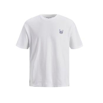 tekstylia Chłopiec T-shirty z krótkim rękawem Jack & Jones JJAARHUS TEE Biały