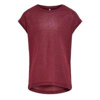 tekstylia Dziewczynka T-shirty z krótkim rękawem Only KONSILVERY Bordeaux