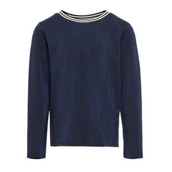 tekstylia Dziewczynka T-shirty z długim rękawem Only KONATHEA Marine