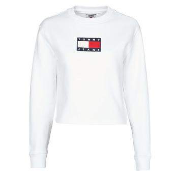 tekstylia Damskie Bluzy Tommy Jeans TJW TOMMY FLAG CREW Biały