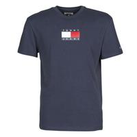 tekstylia Męskie T-shirty z krótkim rękawem Tommy Jeans TJM SMALL FLAG TEE Marine