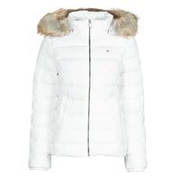 tekstylia Damskie Kurtki pikowane Tommy Jeans TJW BASIC HOODED DOWN JACKET Biały