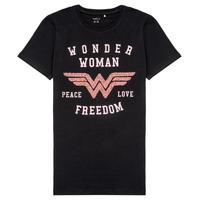 tekstylia Dziewczynka T-shirty z krótkim rękawem Name it NKFWONDERWOMEN Czarny