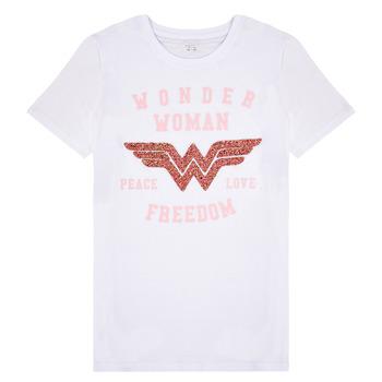 tekstylia Dziewczynka T-shirty z krótkim rękawem Name it NKFWONDERWOMEN Biały