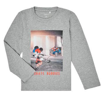 tekstylia Chłopiec T-shirty z długim rękawem Name it NMMMICKEY EMIL Szary