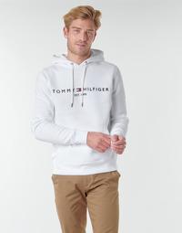 tekstylia Męskie Bluzy Tommy Hilfiger TOMMY LOGO HOODY Biały