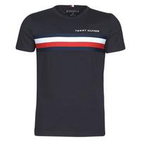 tekstylia Męskie T-shirty z krótkim rękawem Tommy Hilfiger GLOBAL STRIPE TEE Marine
