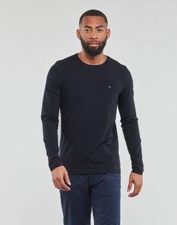 tekstylia Męskie T-shirty z długim rękawem Tommy Hilfiger STRETCH SLIM FIT LONG SLEEVE TEE Czarny
